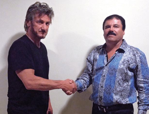 18.jan.2015 - Sean Penn com Joaquín Archivaldo Guzmán Loera, ou 'El Chapo'