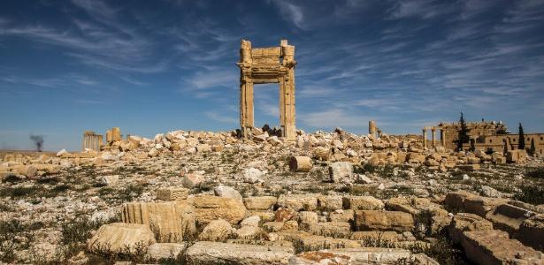 Arco foi a única coisa que sobrou do Templo de Bel destruído pelo Estado Islâmico em Palmira