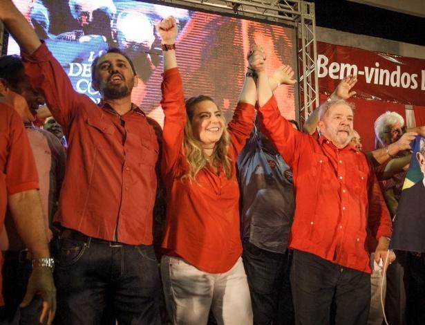 Com a presença do ex-presidente Luiz Inácio Lula da Silva, o PT oficializou a candidatura de Luizianne Lins à Prefeitura de Fortaleza