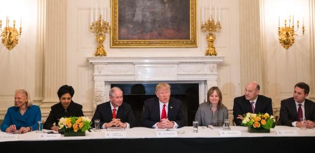 Encontros com Trump na Casa Branca se tornaram um risco para os executivos de grandes empresas