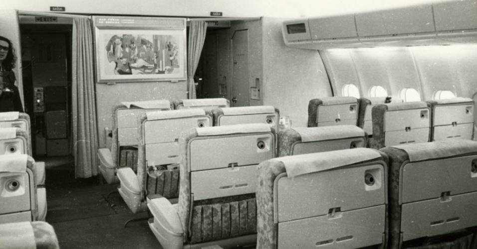 Interior de aeronave da Varig
