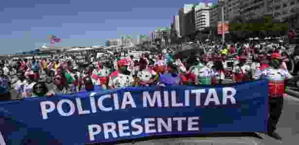 Protesto em Copacabana, no Rio de Janeiro - José Lucena/Futura Press/Estadão Conteúdo - José Lucena/Futura Press/Estadão Conteúdo