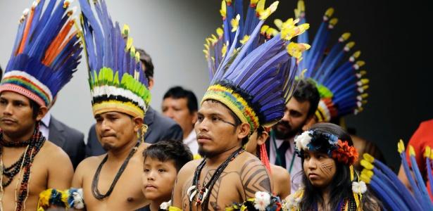 Indígenas acompanham audiência na Câmara, em março - Cleia Viana/Câmara dos Deputados