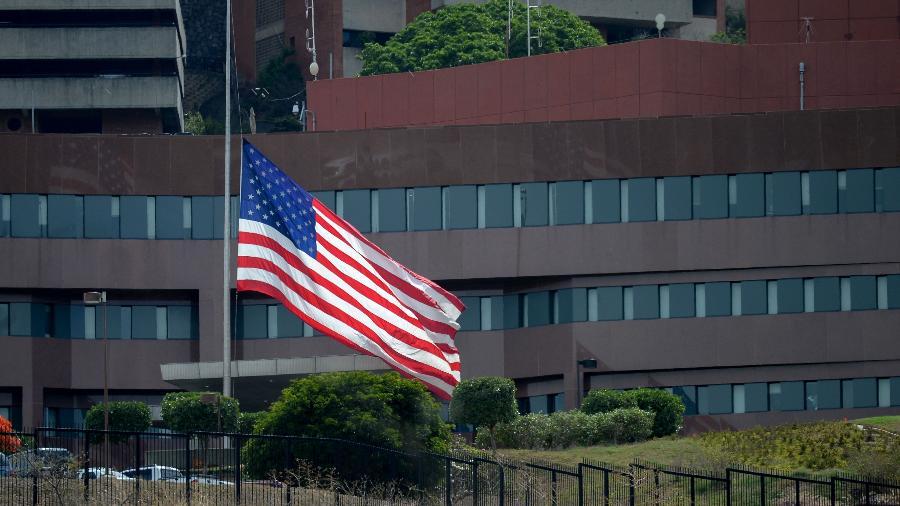 Embaixada dos Estados Unidos em Caracas, na Venezuela - Federico Parra/AFP