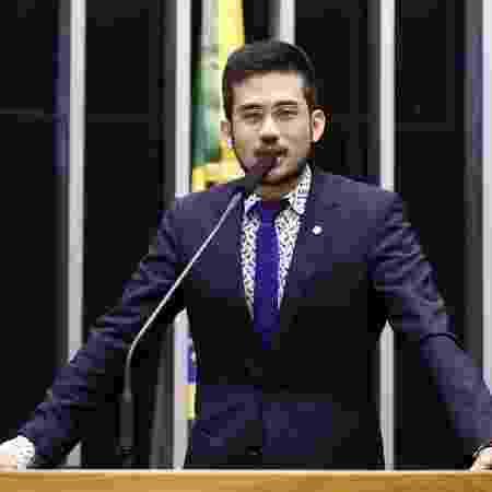 17.abr.2019 - o presidente da Câmara, Rodrigo Maia, entregou a relatoria nas mãos de Kim Kataguiri (DEM-SP) - Luis Macedo/Câmara dos Deputados