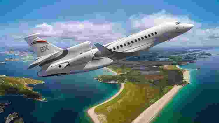 O Dassault Falcon 8X tem autonomia para voar de São Paulo a Moscou sem escala - Divulgação - Divulgação