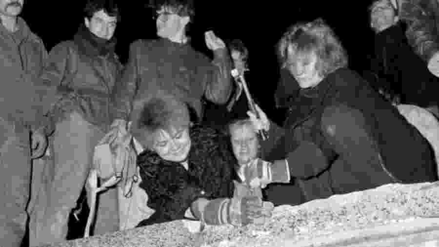 Queda do Muro de Berlim, em 9 de novembro de 1989 - Reuters
