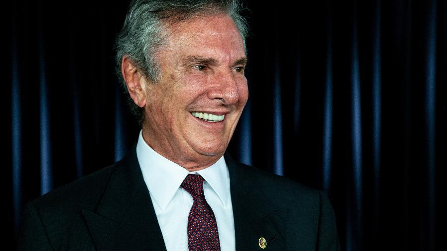 O senador e ex-presidente Fernando Collor de Mello (Pros-AL), em entrevista ao UOL e à Folha, em Brasília - Kleyton Amorim/UOL (6.12.2019)
