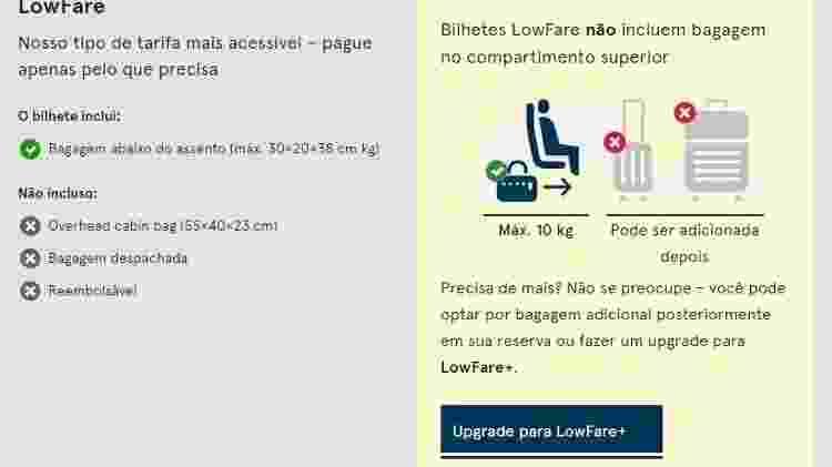 Norwegian cobra R$ 42,95 para bagagem de mão  - Reprodução - Reprodução