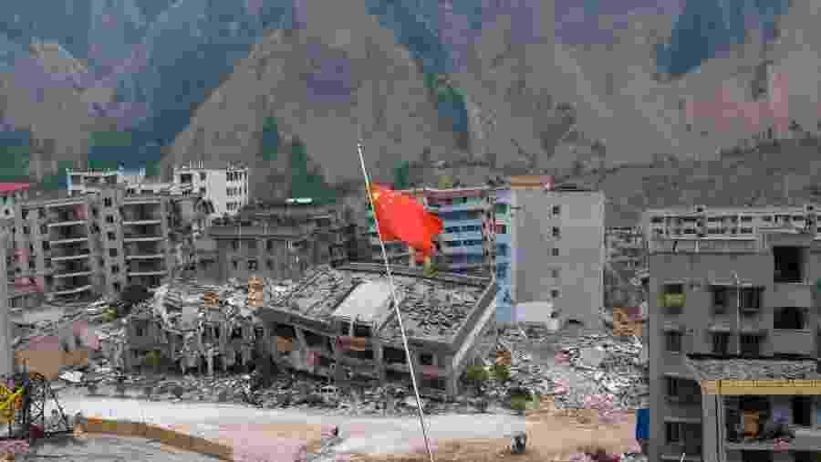 Foto ilustrativa de terremoto na China em 2008 - Chien-min Chung/Getty Images
