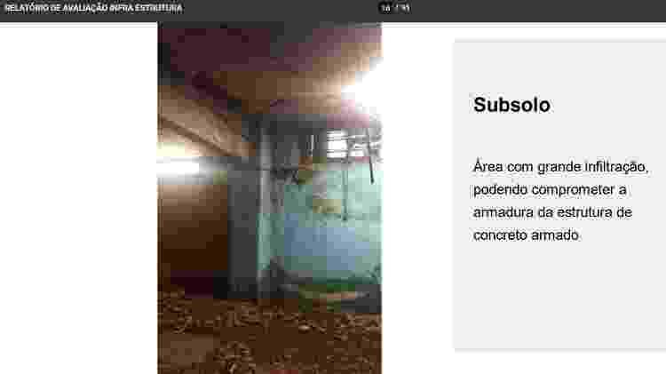28.out.2020 - Relatório encaminhado ao Ministério da Saúde apontou problemas no subsolo do Hospital Federal de Bonsucesso, na zona norte do Rio, onde ocorreu um incêndio que causou a morte de três pacientes - Reprodução - Reprodução