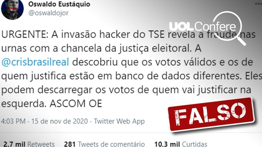 UOL Confere - Post de Oswaldo Eustáquio é falso - Arte/UOL