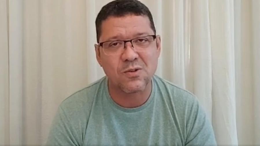 Coronel Marcos Rocha anuncia estar com covid em live no Facebook - Reprodução