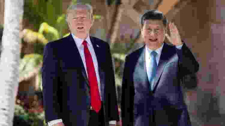 Trump recebeu líderes internacionais como Bolsonaro e o presidente da China, Xi Jinping, em Mar-a-Lago - GETTY IMAGES - GETTY IMAGES