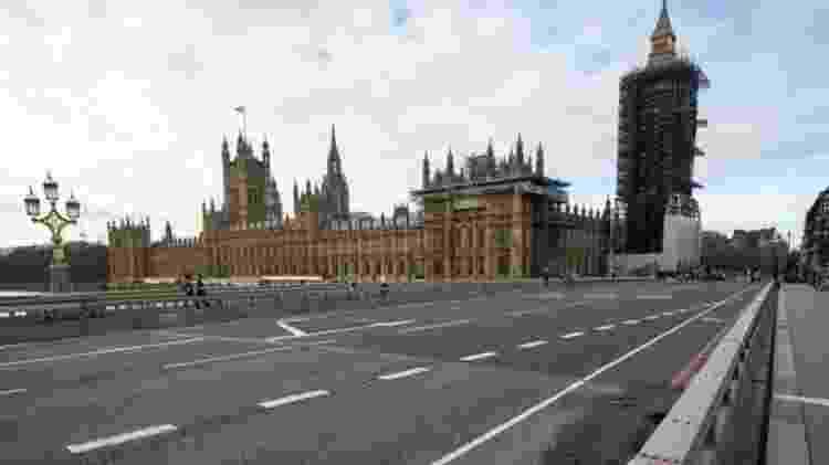 Ruas de Londres ficaram desertas durante lockdown; após meses de fechamento, Reino Unido inicia relaxamento das medidas restritivas - PA Media - PA Media