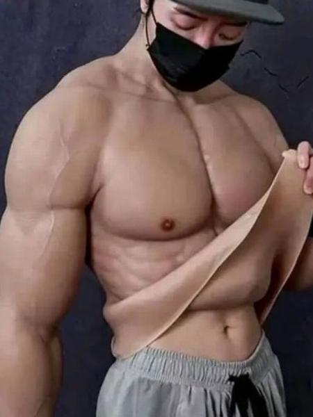 Traje está disponível em versões para o corpo inteiro, ou, apenas, pernas ou tronco - Reprodução/Daily Star/Taobao