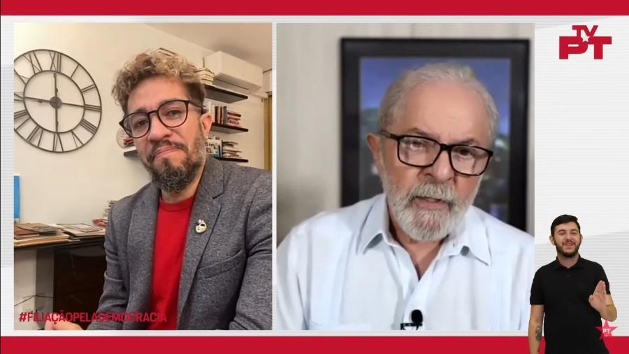 Jean Wyllys chorou com discurso de Lula em evento virtual de filiação ao PT - Reprodução/YouTube