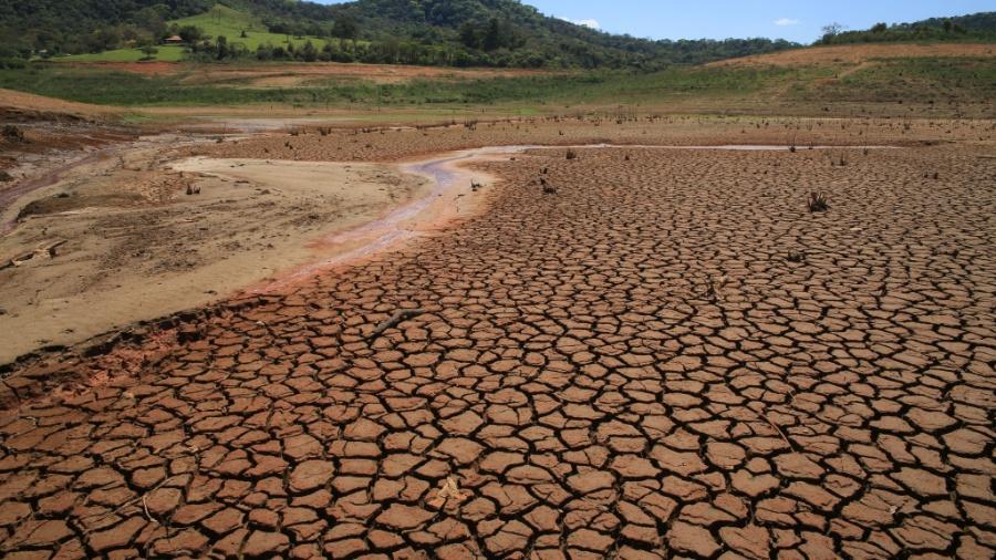 Vista da reserva da represa Jaguari/Jacareí, na cidade de Vargem, no interior de São Paulo, em 2015 - Luis Moura/Estadão Conteúdo