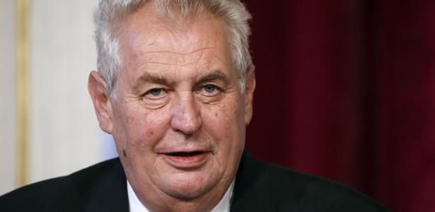 O atual presidente da República Tcheca, Milos Zeman, que saiu na frente no primeiro turno nas eleições do país e tem como oponente Jiri Drahos