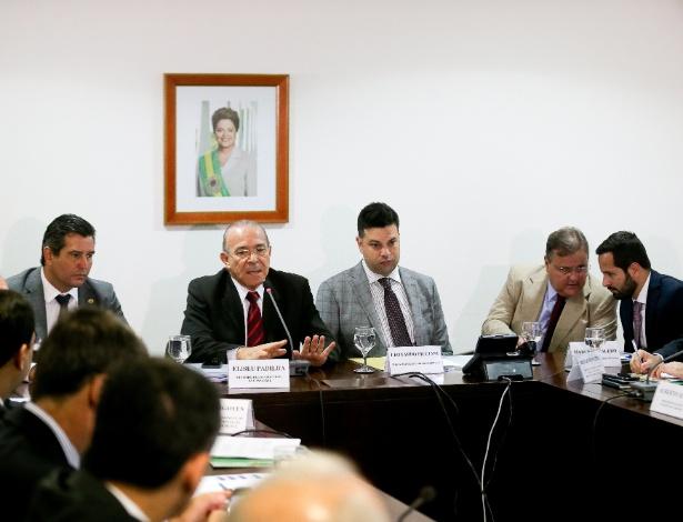 Calero (d) e Geddel (ao lado dele) durante encontro de ministros em julho de 2016