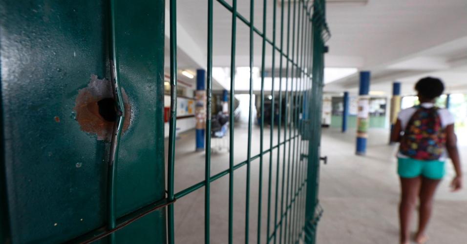 Escola Municipal Daniel Piza, onde estudante morreu baleada