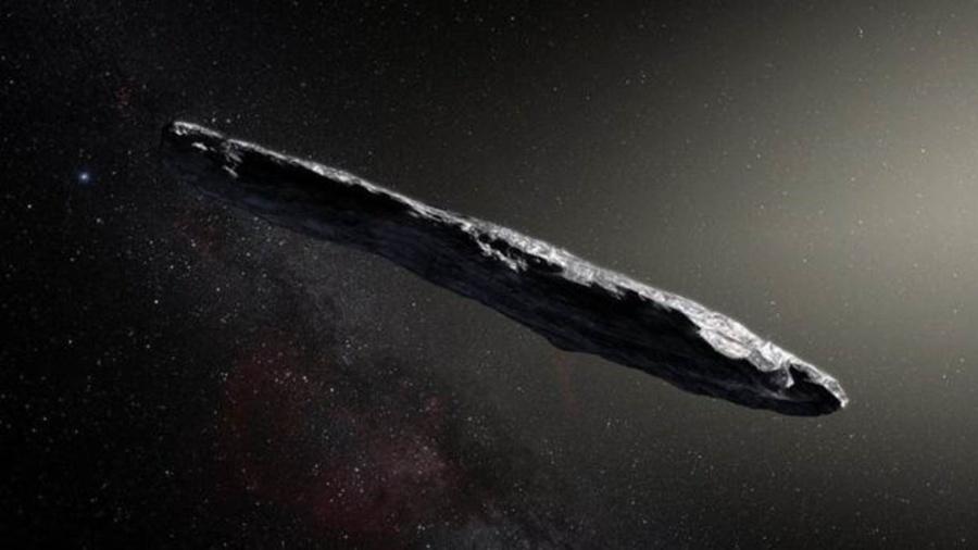 O asteroide Oumuamua é um dos objetos mais longos que já foram observados pelos cientistas - ESO/M. Kornmesser