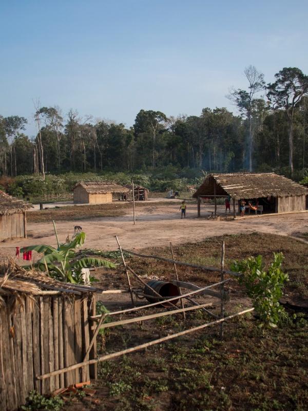 Aldeia na Terra Indígena Alto Turiaçu, no noroeste do Maranhão