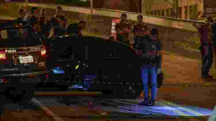 Viaduto capitão Pacheco e Chaves, onde dois suspeitos foram mortos por policiais militares da Rota - 02.abr.2019 - Marcelo Goncalves/Sigmapress/Folhapress