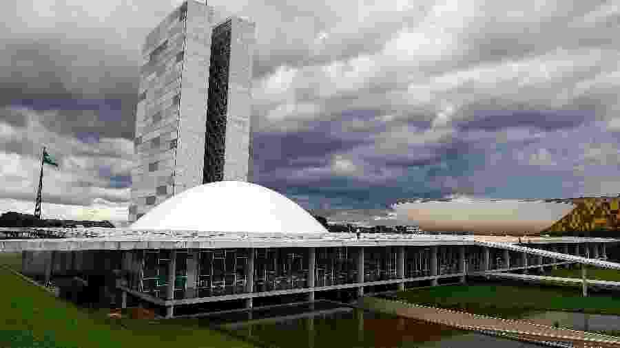 1º.mar.2019 - Fachada do Congresso Nacional, sede da Câmara e do Senado - Roque de Sá / Agência Senado
