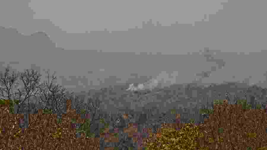 Focos de incêndio no Parque Nacional da Chapada dos Guimarães, em Mato Grosso - Juliana Arini/Folhapress