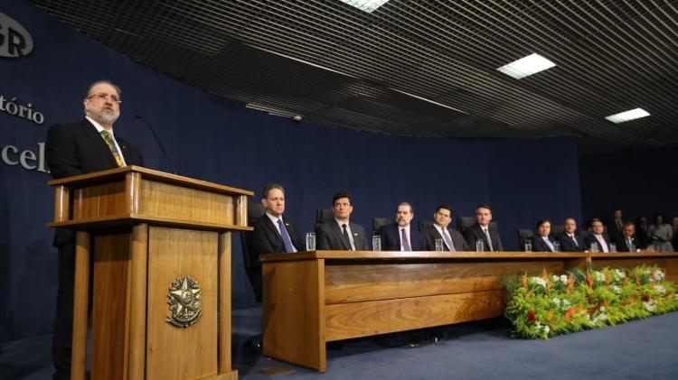 Aras discursou na cerimônia realizada hoje em Brasília - Antônio Augusto/Secom/PGR