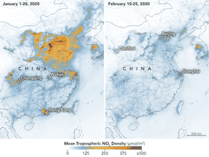 Redução da poluição na China - NASA - NASA