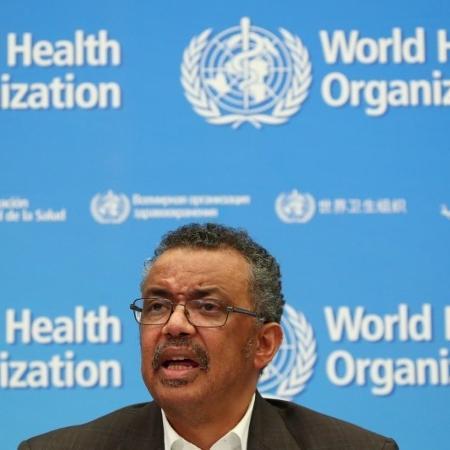Tedros Adhanom Ghebreyesus, diretor-geral da OMS, durante entrevista coletiva em Genebra - Denis Balibouse