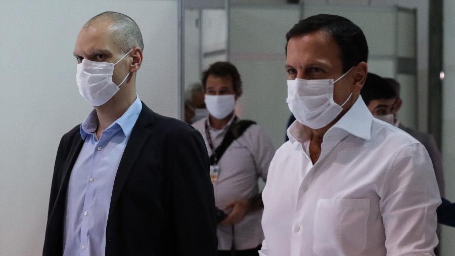 Prefeito Bruno Covas (esq) ao lado do governador João Doria - PAULO GUERETA/AGÊNCIA O DIA/ESTADÃO CONTEÚDO