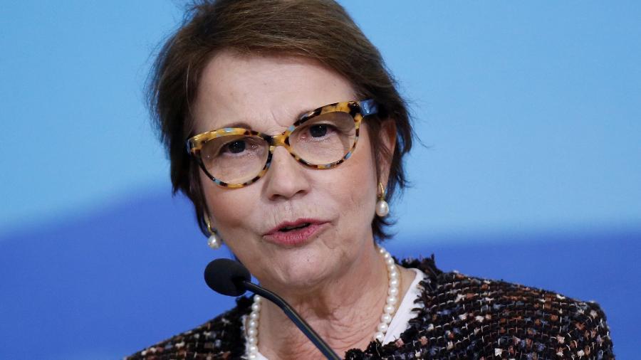 Ministra da Agricultura, Tereza Cristina, durante lançamento do novo Plano Safra - ADRIANO MACHADO