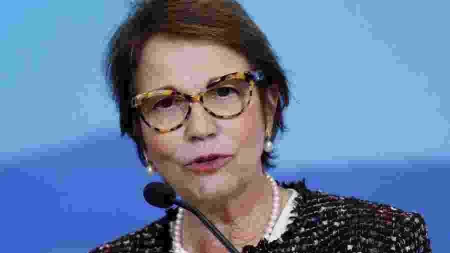 Ministra da Agricultura, Tereza Cristina, diz que não haverá desabastecimento de alimentos  - ADRIANO MACHADO