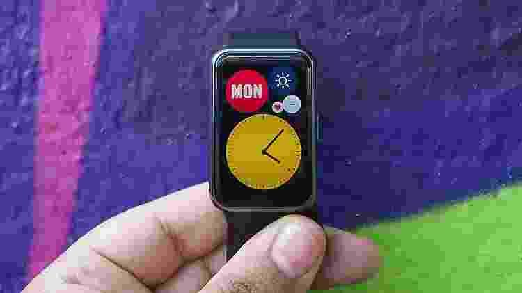 Tela do smartwatch Watch Fit, da Huawei - Guilherme Tagiaroli/UOL - Guilherme Tagiaroli/UOL