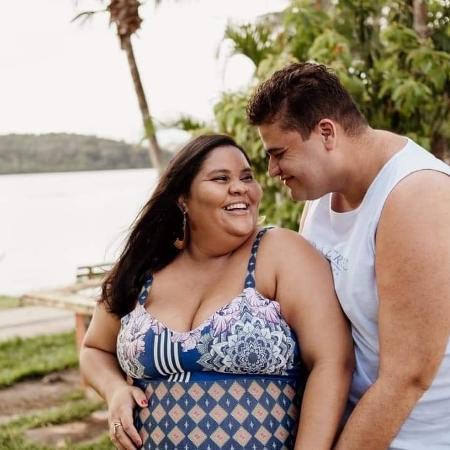 O casal Thyarê e Carlos - Arquivo pessoal