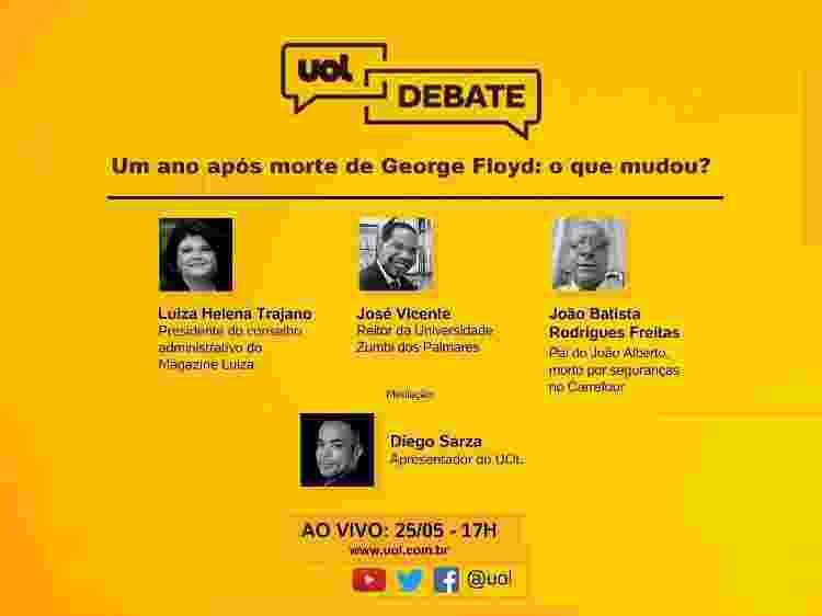 UOL Debate - um ano após a morte de George Floyd  - do UOL  - do UOL