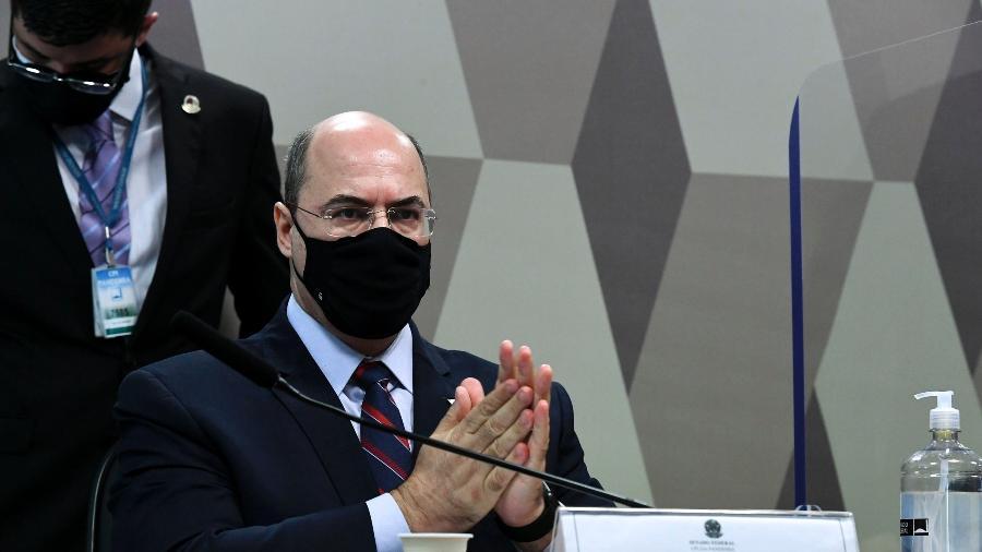 O ex-governador do Rio Wilson Witzel é ouvido pela CPI da Covid - Edilson Rodrigues/Agência Senado