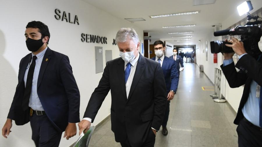Airton Antonio Soligo, conhecido como Airton Cascavel, prestou depoimento hoje à CPI da Covid - Marcos Oliveira/Agência Senado