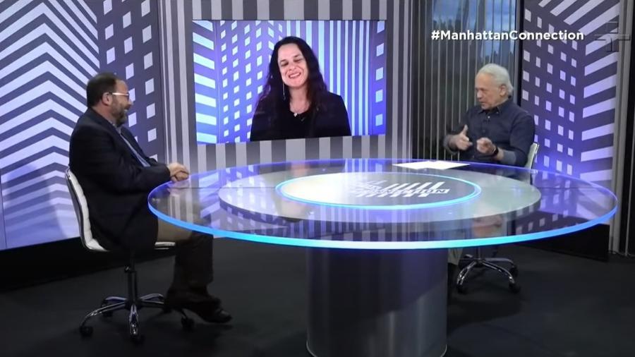 """A TV Cultura anunciou o fim do """"Manhattan Connection"""" após o programa com a deputada Janaína Paschoal (PSL) - Reprodução"""