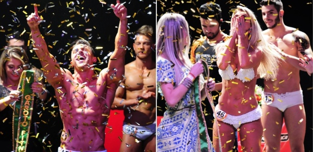 Renan Marinho e Tereza Pereira comemoram a vitória no concurso - Junior Lago/UOL/Arte UOL