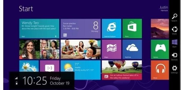 Tela do Windows 8