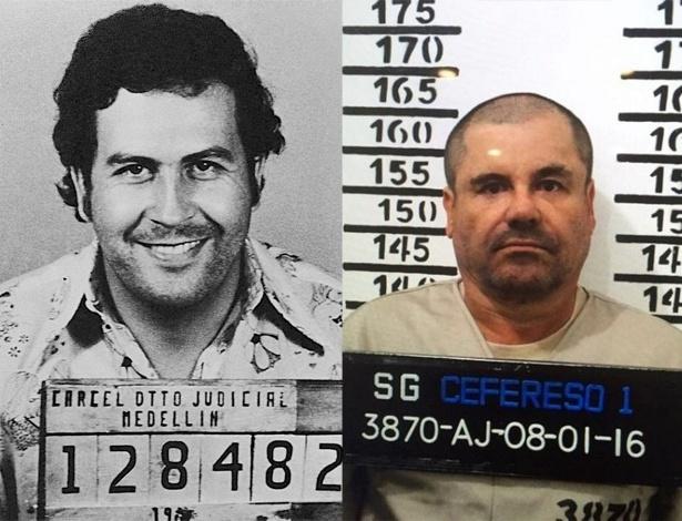 """Em diferentes épocas, o colombiano Pablo Emilio Escobar Gaviria e o mexicano Joaquín Archivaldo Guzmán Loera foram considerados os maiores narcotráficantes do mundo. Escobar, ou El Patrón, foi o rei do tráfico de cocaína entre 1976 e 1993. El Chapo é o número 1 na venda não só de cocaína, mas também maconha, heroína e metanfetamina, e está """"no negócio da droga"""" desde 1989. Em comum, além de serem os mais procurados por autoridades americanas, ambos tiveram infâncias difíceis, promoveram um verdadeiro banho de sangue em seus países e tinham ambições ousadas: Escobar quis ser presidente da Colômbia, e chegou a ser deputado; El Chapo foi preso porque planejava um filme sobre sua própria vida"""