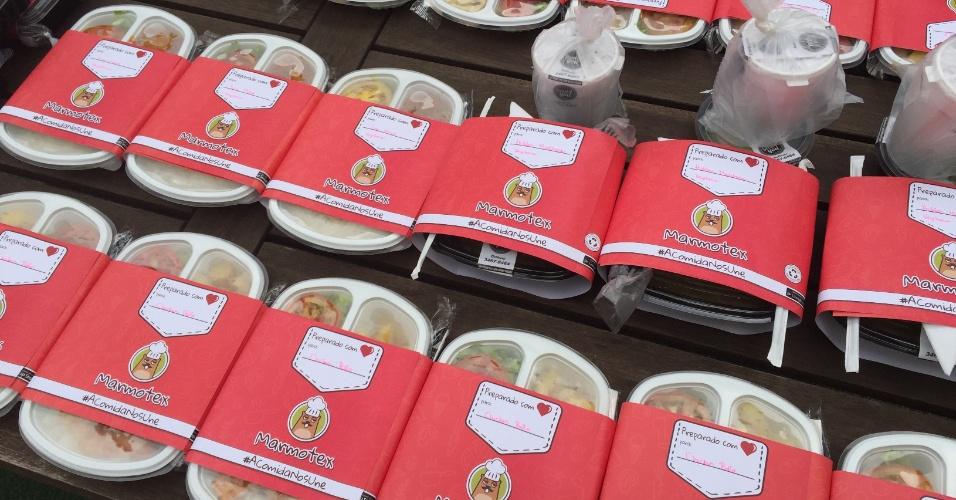 A Marmotex vende marmitas para escritórios, mas só realiza entrega para grupos cadastrados no site; de acordo com os sócios, há 116 opções entre comida típica brasileira, oriental, árabe, mexicana, vegetariana e light; os preços variam de R$ 15 a R$ 35; clique nas imagens acima e veja mais