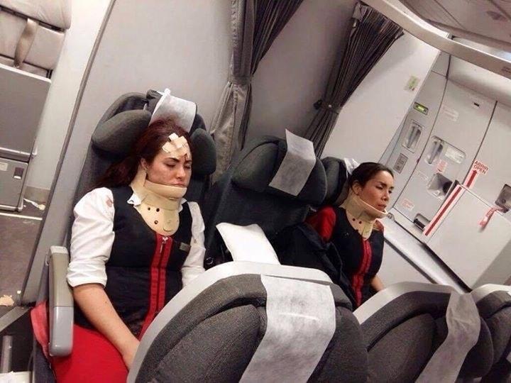6.jun.2016 - Uma forte turbulência na altura da cordilheira dos Andes deixou quatro passageiros e oito membros da tripulação do feridos no voo AV965 da Avianca, que saiu de Lima, no Peru, na noite de 3 de junho, com destino a Buenos Aires, na Argentina