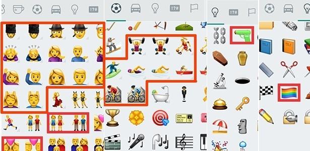 Novos emojis do WhatsApp seguindo a linha do iOS 10