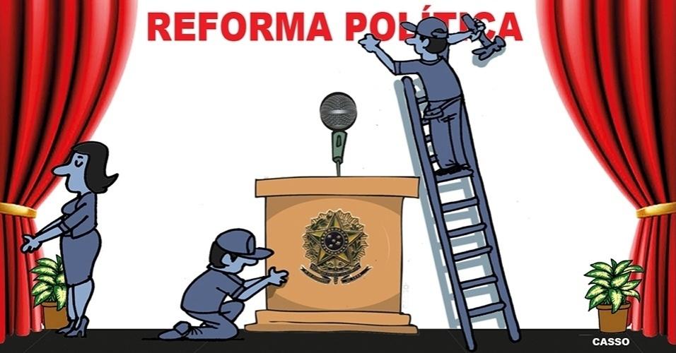 18.out.2016 - Algumas reformas sempre acontecem na política