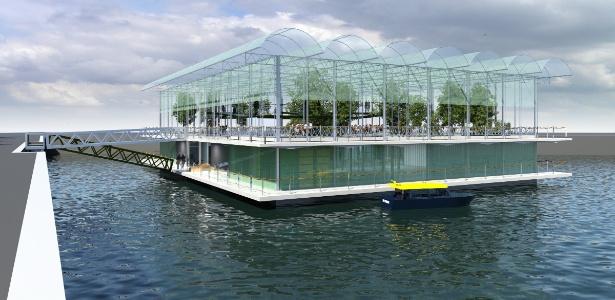 Projeto mostra como será a futura fazenda flutuante em Roterdã, na Holanda